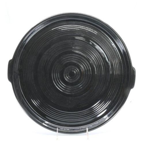 Pacific Pottery Hostessware 413 Tab Target Platter Bauer Black