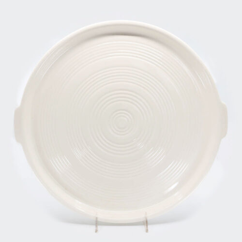 Pacific Pottery Hostessware 413 Tab Target Platter White