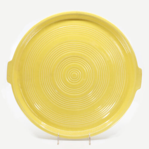 Pacific Pottery Hostessware 413 Tab Target Platter Yellow