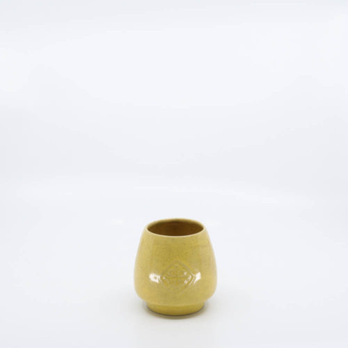 Pacific Pottery Hostessware 418 Antique Tumbler Yellow Speckle