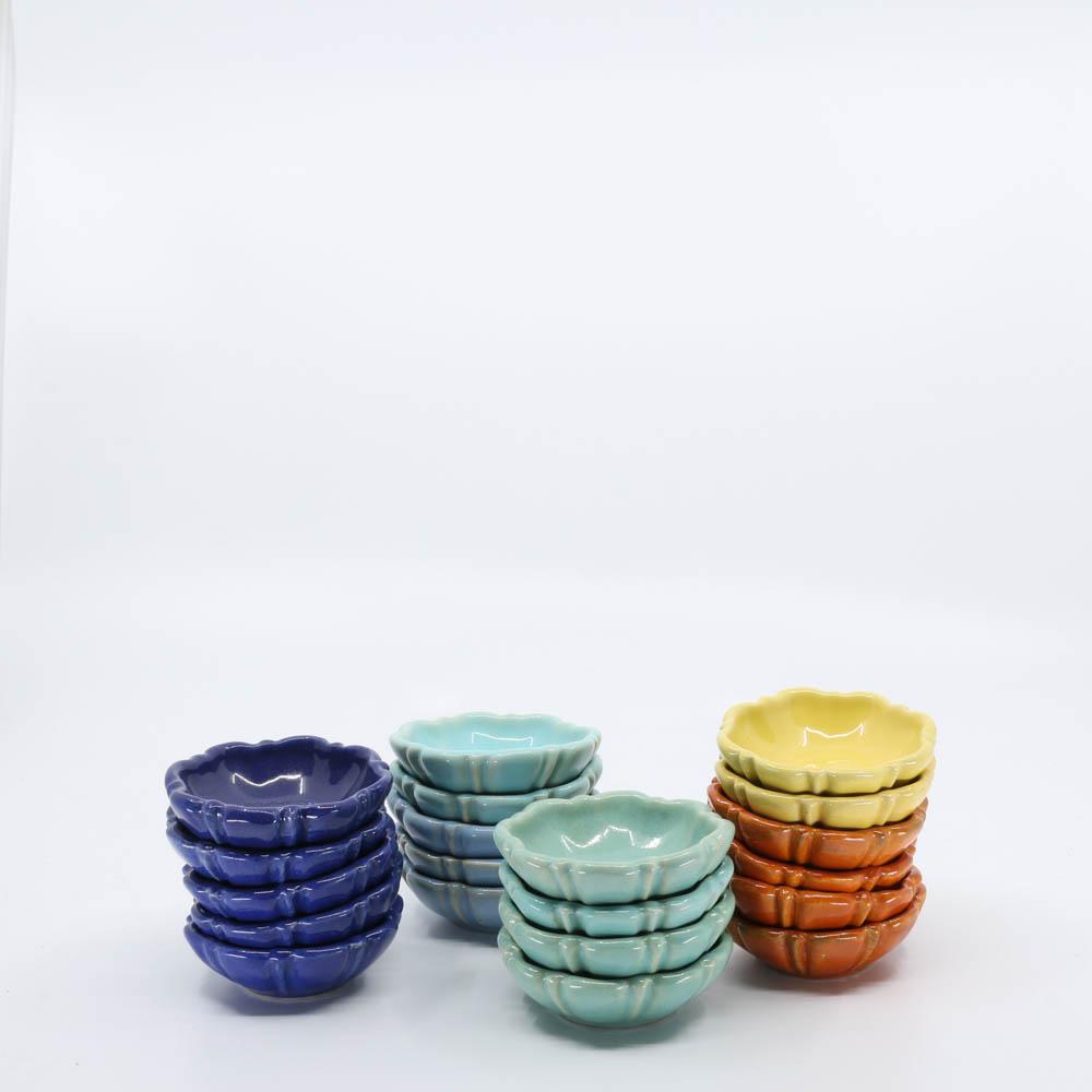 Pacific Pottery Hostessware 437 Nut Dish Multi
