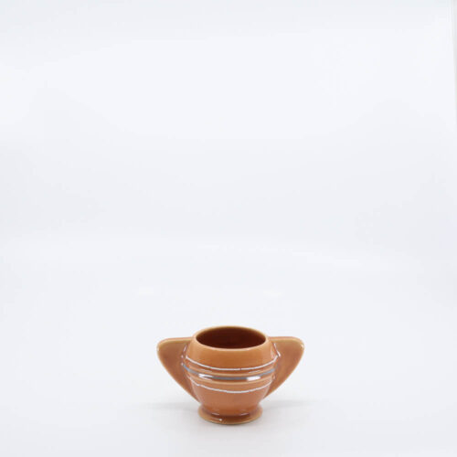 Pacific Pottery Hostessware 450 Demi Sugar Dec 2006 Apricot
