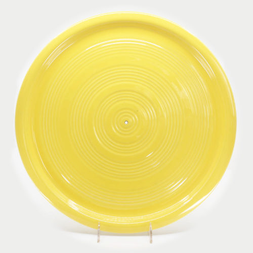 Pacific Pottery Hostessware 451 Target Platter Yellow