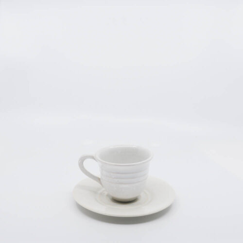 Pacific Pottery Hostessware 608-609A Teacup & Saucer White