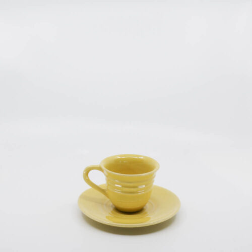 Pacific Pottery Hostessware 608-609A Teacup & Saucer Yellow