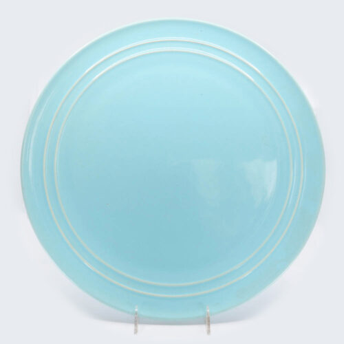 Pacific Pottery Hostessware 612 Chop Plate Aqua