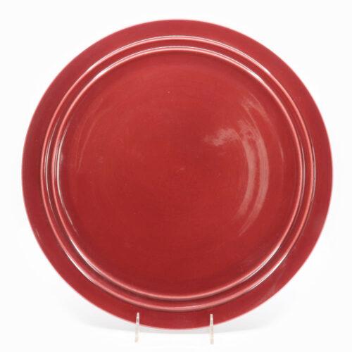 Pacific Pottery Hostessware 612 Chop Plate Dubonnet