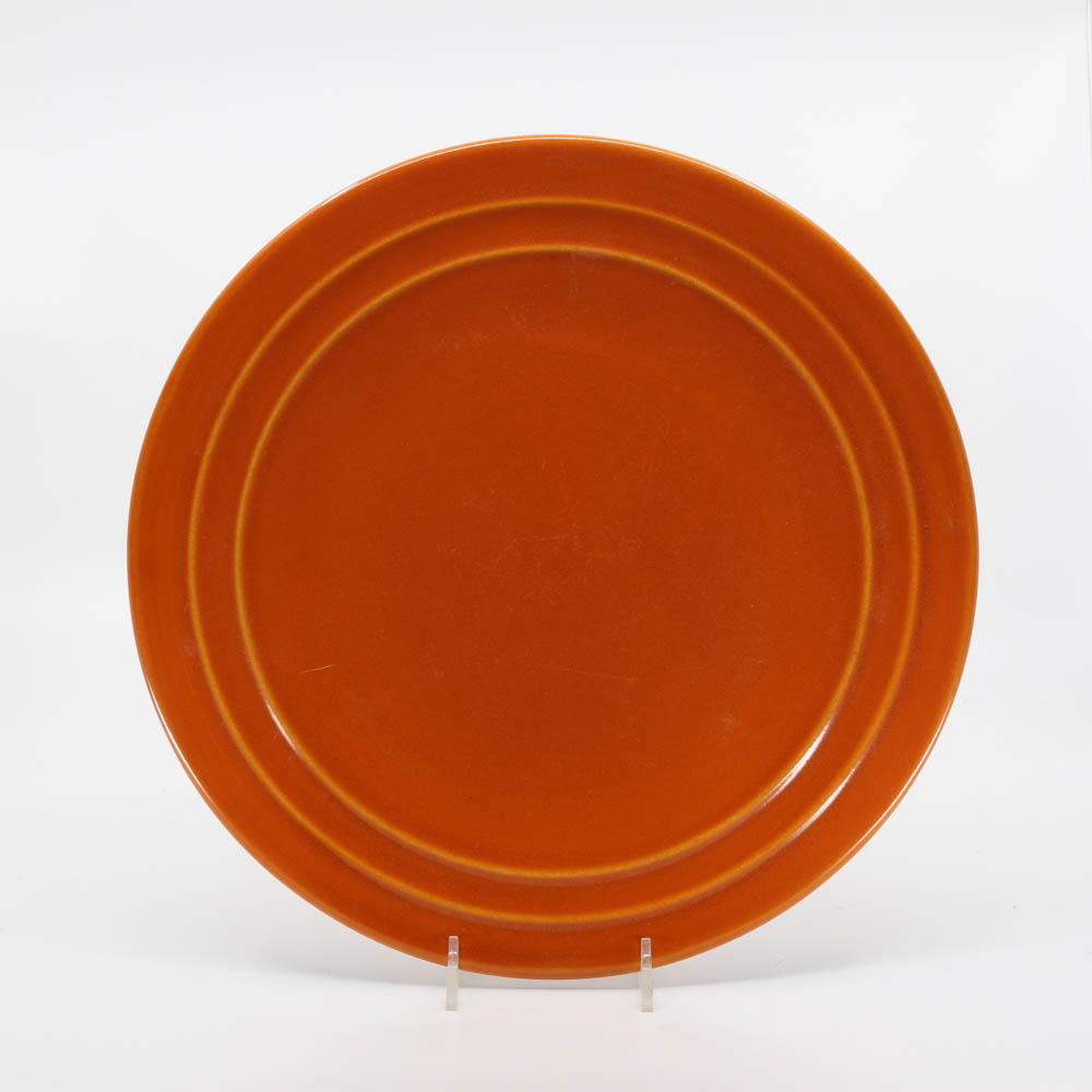 Pacific Pottery Hostessware 613 Dinner Plate Red