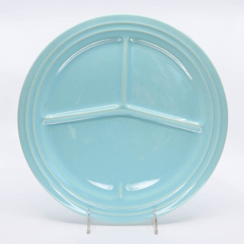 Pacific Pottery Hostessware 615 Divided Plate Aqua