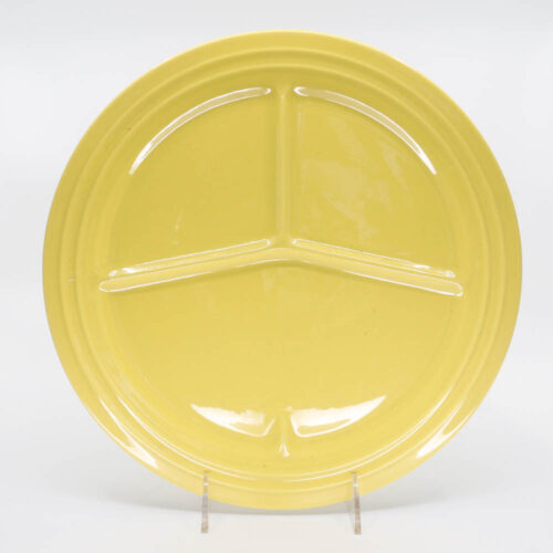 Pacific Pottery Hostessware 615 Divided Plate Yellow