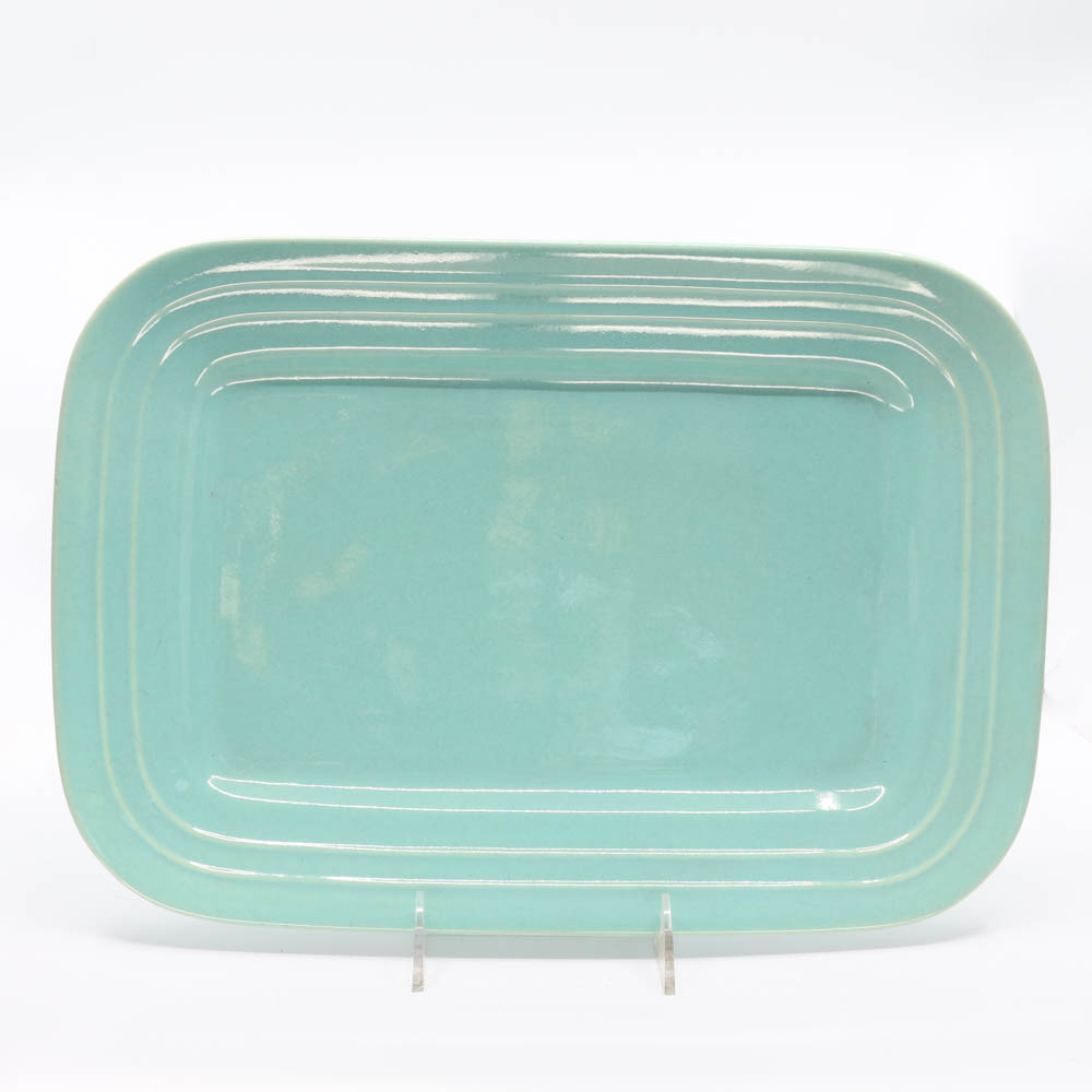 Pacific Pottery Hostessware 617 Rectangular Tray Large Green