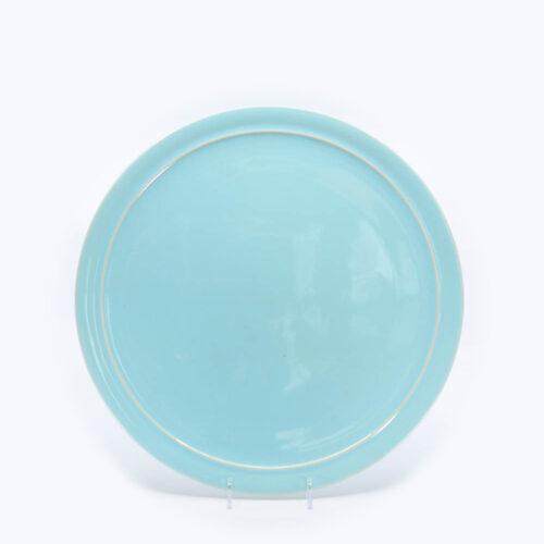 Pacific Pottery Hostessware 619 13 Cake Plate Aqua