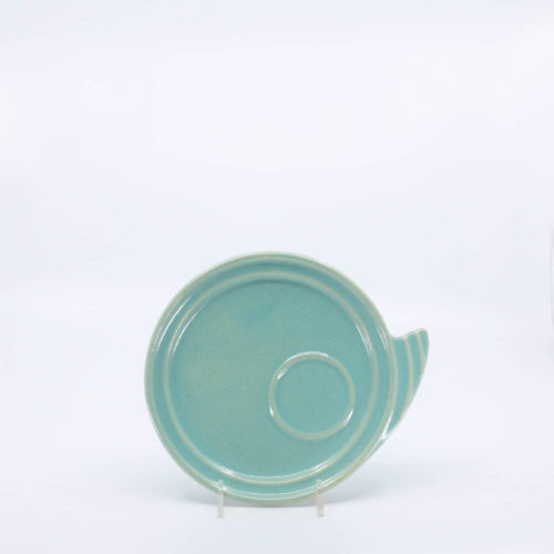 Pacific Pottery Hostessware 632 Canape Plate Green
