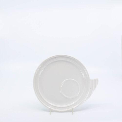 Pacific Pottery Hostessware 632 Canape Plate White