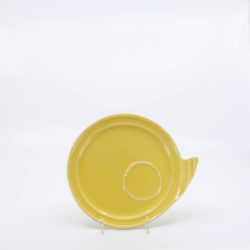 Pacific Pottery Hostessware 632 Canape Plate Yellow