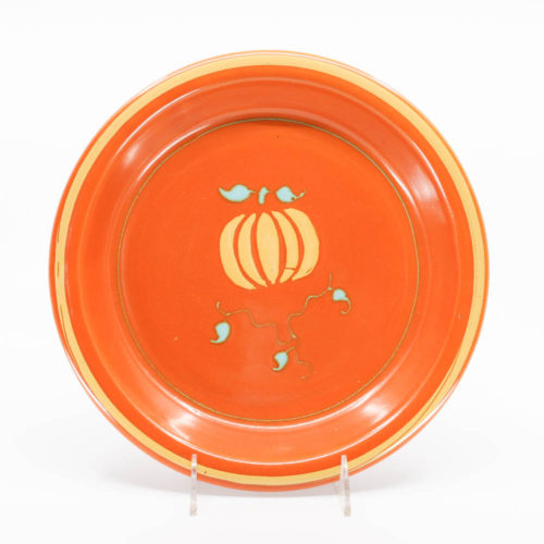 Pacific Pottery Hostessware 638 Pie Plate Dec Pumpkin Red
