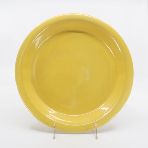 Pacific Pottery Hostessware 638 Pie Plate Yellow