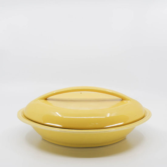 Pacific Pottery Hostessware 640-640A Div Bowl Lid Yellow