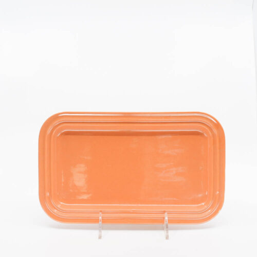 Pacific Pottery Hostessware 659 Rect Tray Small Apricot