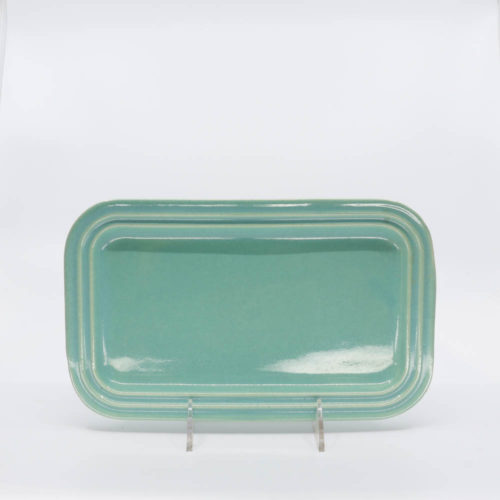 Pacific Pottery Hostessware 659 Rect Tray Small Green