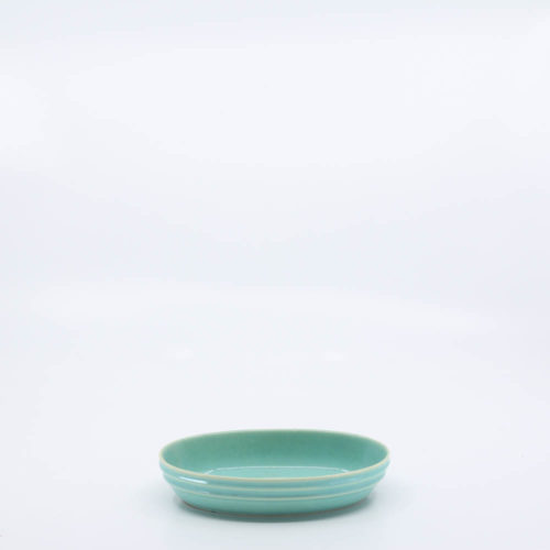 Pacific Pottery Hostessware 667 Ind Oval Bowl Green