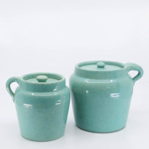Pacific Pottery Hostessware 226-227 Beanpot Green