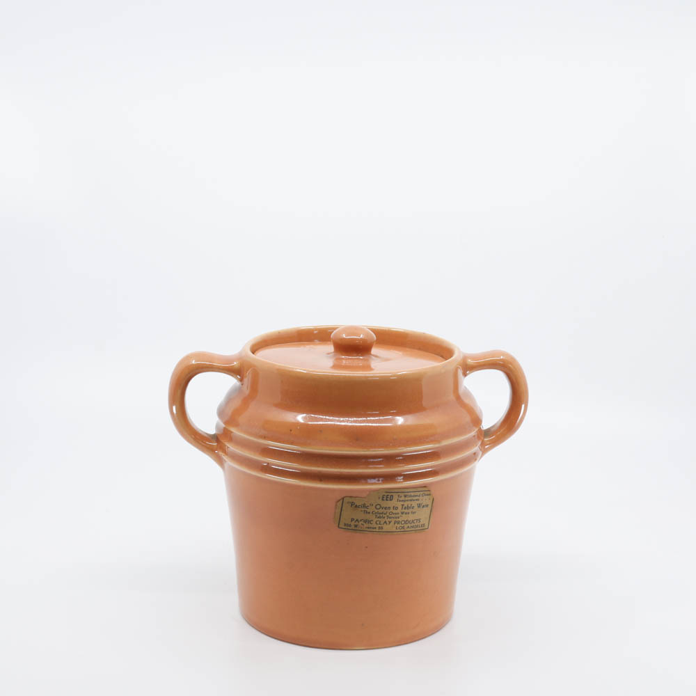 Pacific Pottery Hostessware 235 Beanpot Apricot