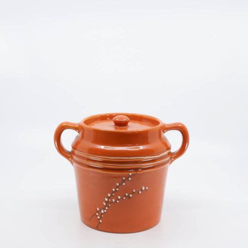 Pacific Pottery Hostessware 235 Beanpot Dec Willow Red