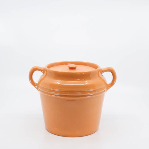 Pacific Pottery Hostessware 236 Beanpot Apricot