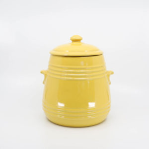 Pacific Pottery Hostessware 305 Pretzel Jar Yellow