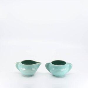 Pacific Pottery Hostessware 407-408 Creamer Sugar Green