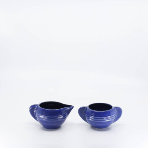 Pacific Pottery Hostessware 407-408 Creamer Sugar Pacblue