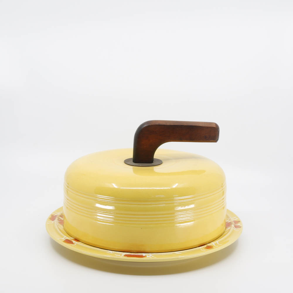 Pacific Pottery Hostessware 416 Cheese Cover Yellow