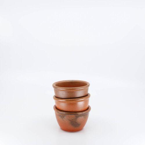 Pacific Pottery Hostessware Plainware Custard Red