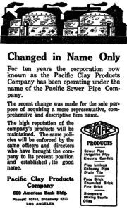 1921 Los Angeles Times Pacific Clay Products