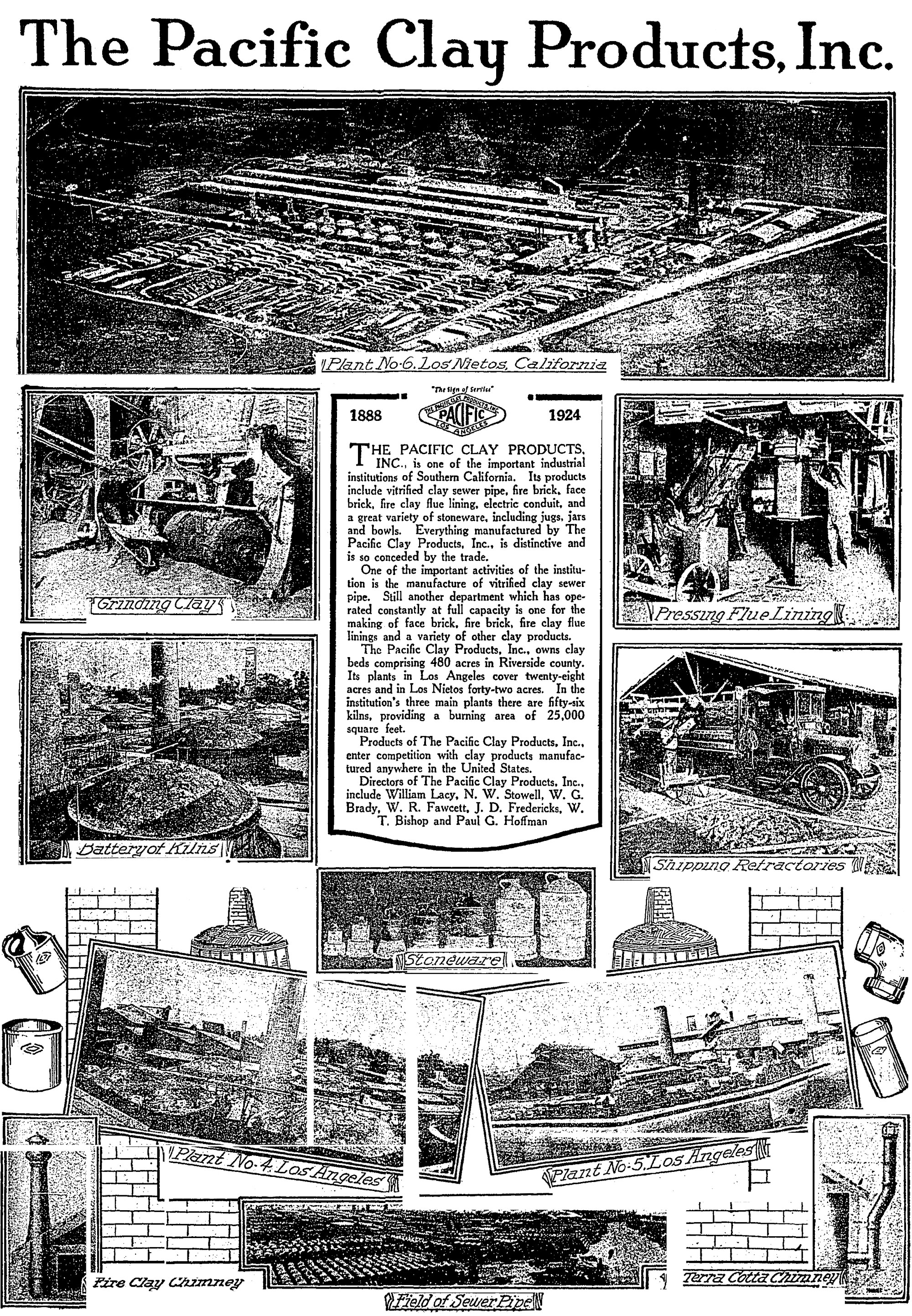 Pacific Clay Products 1924 Los Angeles Times