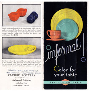 1935 San Diego Expo Pacific Pottery Brochure