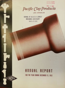 Pacific Clay Products Annual Reports