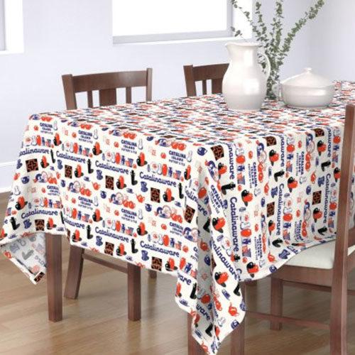 Qwkdog Catalina Pottery Logo Tablecloth 01
