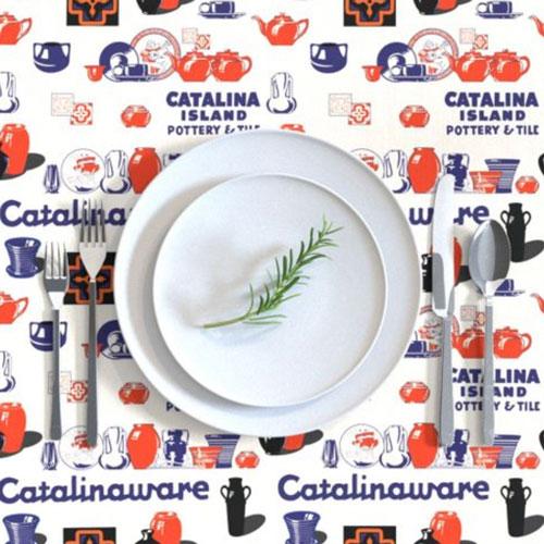 Qwkdog Catalina Pottery Logo Tablecloth 02