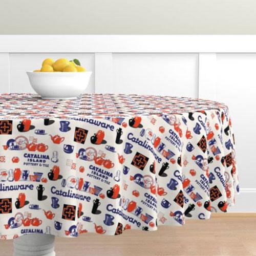 Qwkdog Catalina Pottery Logo Tablecloth 03