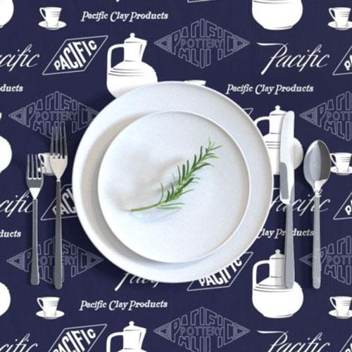 Pacific Pottery Logo Fabric Design 01