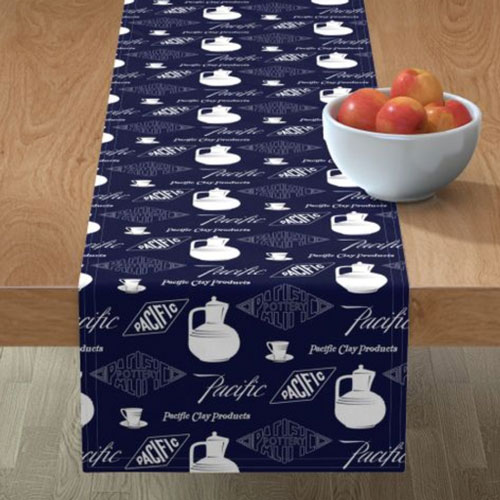 Pacific Pottery Logo Fabric Design 03