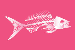QwkDog Design Fish Skeleton