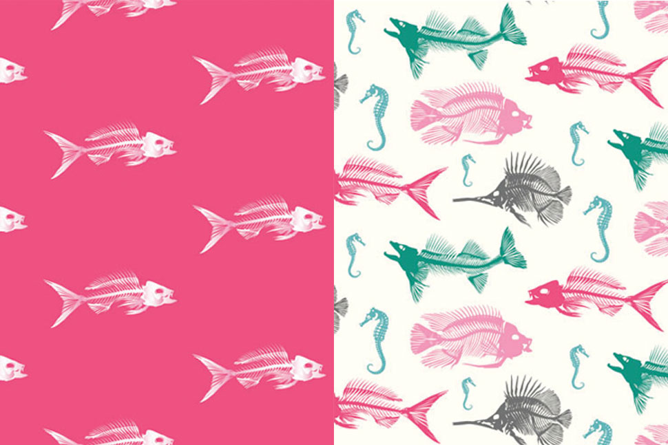 QwkDog Design Fish Skeleton Patterns