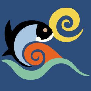 QwkDog Fish Tile Pattern Design Single