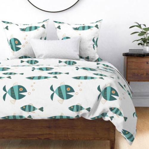 QwkDog Metlox Tropicana Fish Design Bedding 01