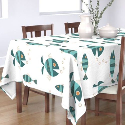 QwkDog Metlox Tropicana Fish Design Tablecloth 03