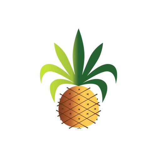 QwkDog Metlox Tropicana Pineapple Fabric Design