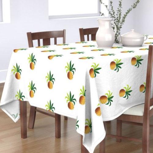 QwkDog Metlox Tropicana Pineapple Tablecloth 03